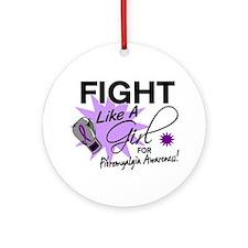 Fight Like A Girl Fibromyalgia Ornament (Round)