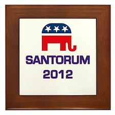 Santorum 2012 Framed Tile