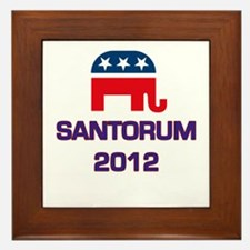 Santorum 2012 Framed Tile