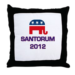 Santorum 2012 Throw Pillow