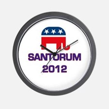 Santorum 2012 Wall Clock