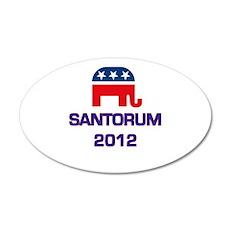 Santorum 2012 22x14 Oval Wall Peel