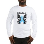 Butterfly Prostate Cancer Long Sleeve T-Shirt