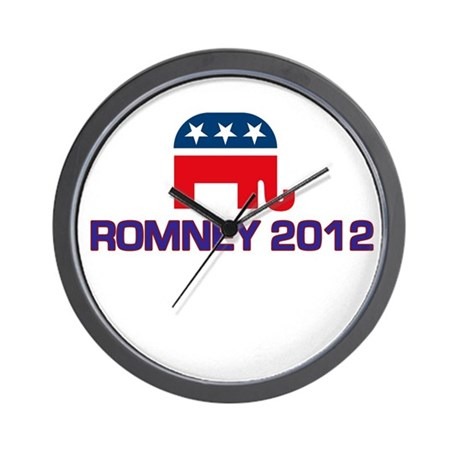 Romney 2012 Wall Clock