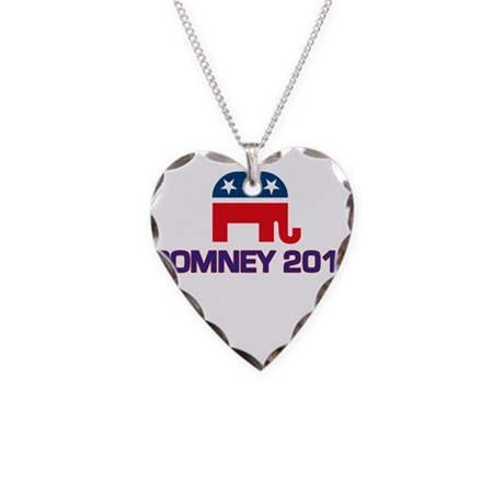 Romney 2012 Necklace Heart Charm