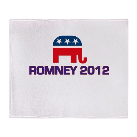 Romney 2012 Throw Blanket