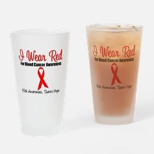 Blood Cancer Red Ribbon Pint Glass
