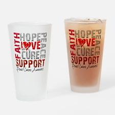 Hope Brain Cancer Pint Glass