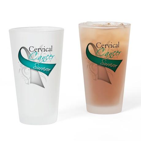 Cervical Cancer Survivor Pint Glass