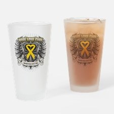 Child Cancer Hope Love Pint Glass