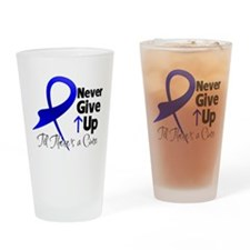 Never Give Up Colon Cancer Pint Glass