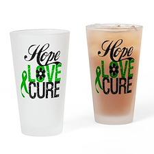 Hope Love Cure Bile Duct Pint Glass