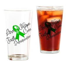 Love Hope Bile Duct Cancer Pint Glass