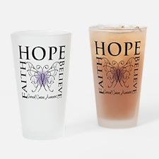 Hope Faith Believe Cancer Pint Glass