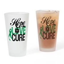 Hope Love Cure Liver Cancer Pint Glass