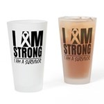 I am Strong Melanoma Pint Glass