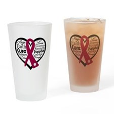 Multiple Myeloma Heart Pint Glass