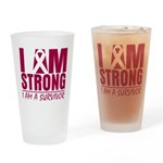 I am Strong Multiple Myeloma Pint Glass