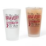 Multiple Myeloma Bravery Pint Glass