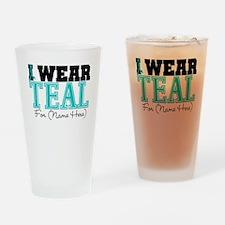 Custom Teal Ovarian Cancer Pint Glass