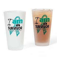 I'm a Survivor Ovarian Cancer Pint Glass