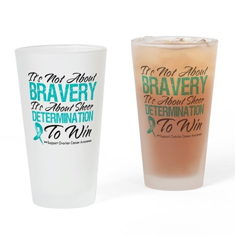 Bravery Ovarian Cancer Pint Glass
