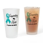 Supporting Hero Ovarian Pint Glass