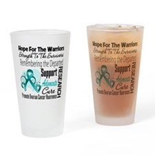 Hope Tribute Ovarian Cancer Drinking Glass