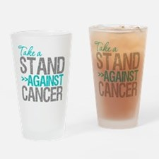 Take a Stand Ovarian Cancer Drinking Glass