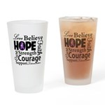 Pancreatic Cancer Hope Pint Glass