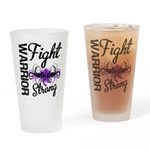 Fight Strong Pancreatic Cancer Drinking Glass