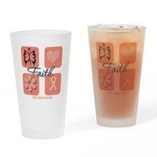 Uterine Cancer Faith Pint Glass