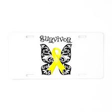 Butterfly Sarcoma Survivor Aluminum License Plate
