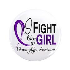 "Fight Like A Girl Fibromyalgia 3.5"" Button"