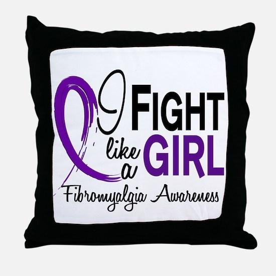 Fight Like A Girl Fibromyalgia Throw Pillow