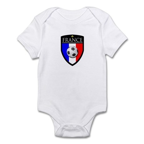 France Soccer Patch Infant Bodysuit