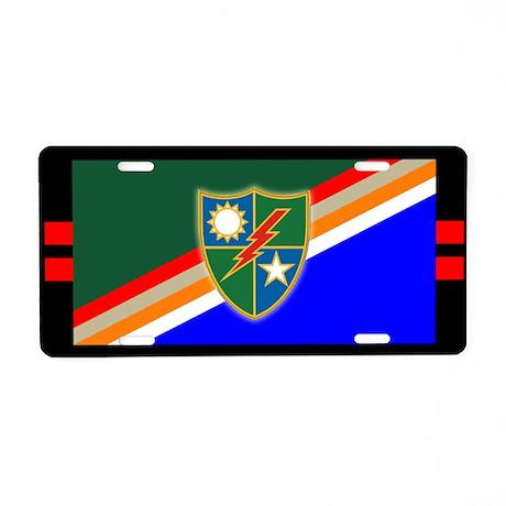 2nd Ranger Battalion Aluminum License Plate