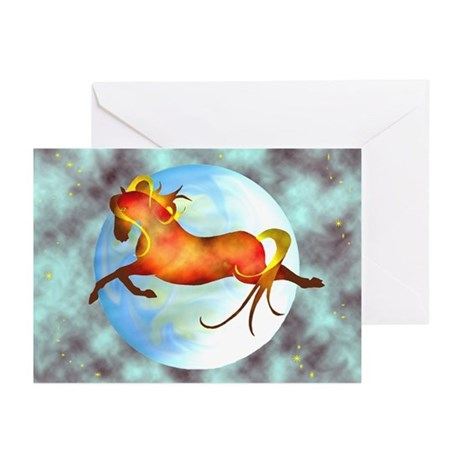 moon horse Greeting Cards (Pk of 10)