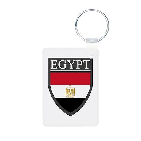 Egypt Flag Patch Aluminum Photo Keychain