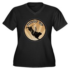 Giddy Up Women's Plus Size V-Neck Dark T-Shirt