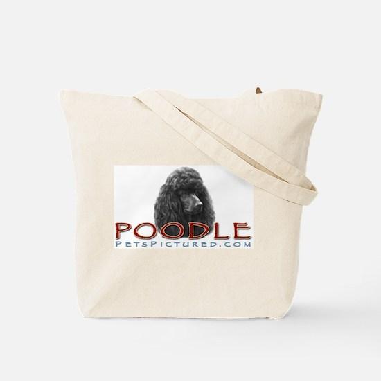 Black or Chocolate Poodle Tote Bag
