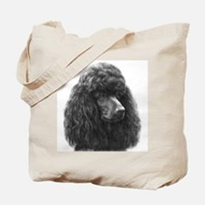 Black or Chocolate Poodle Tote Bag