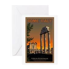 Forum Temples Greeting Card