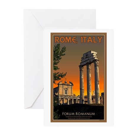 Forum Temples Greeting Cards (Pk of 20)