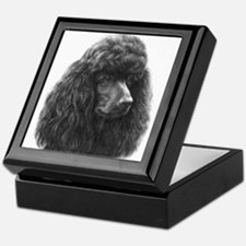 Black or Chocolate Poodle Keepsake Box