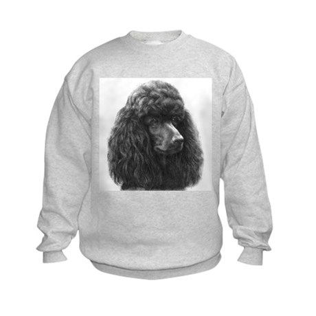 Black or Chocolate Poodle Kids Sweatshirt