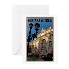 Trevi Fountain Greeting Cards (Pk of 20)