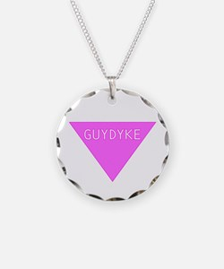 Cute Pink triangle Necklace
