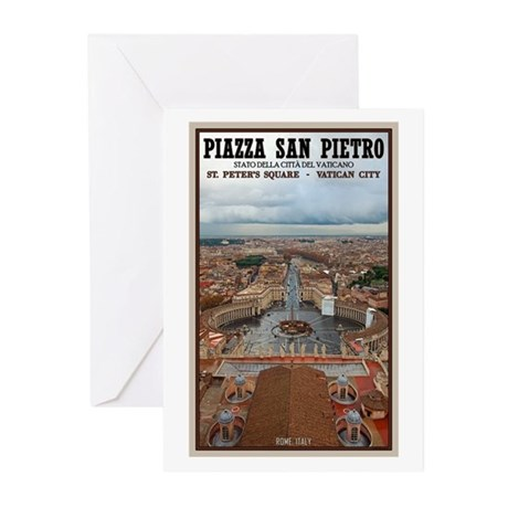 St. Peter's Square Greeting Cards (Pk of 10)