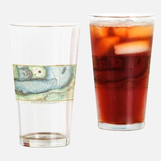 Vintage Map of Niagara Fall NY (184 Drinking Glass